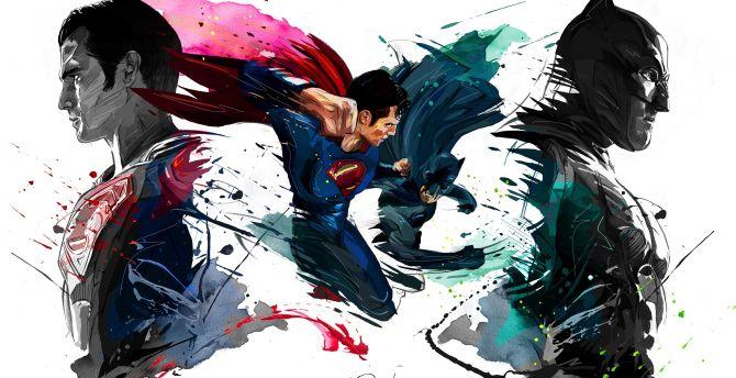 Batman Vs Superman 4k Sketch Artwork Wallpaper