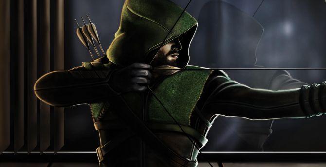 Desktop Wallpaper Green Arrow Dc Comics Art 2019 Hd