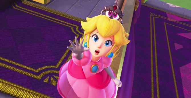Blonde, princess, super mario odyssey wallpaper