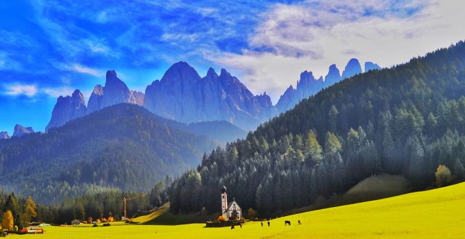 Dolomites, Italy, landscape, mountains wallpaper