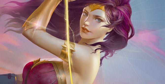 Wonder woman, beautiful, superhero wallpaper
