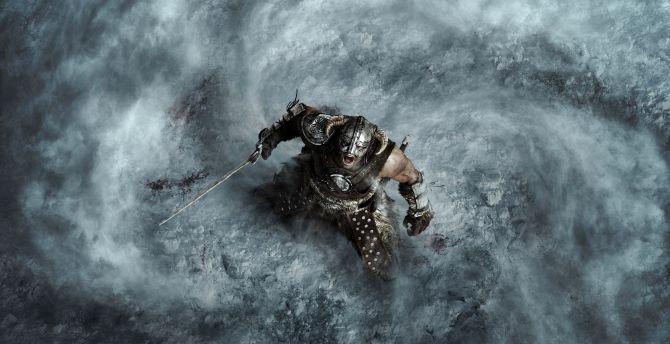 The Elder Scrolls V: Skyrim, warrior, video game wallpaper