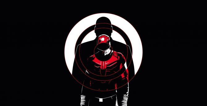 Daredevil, dark, minimal, season 3, 2018, poster wallpaper