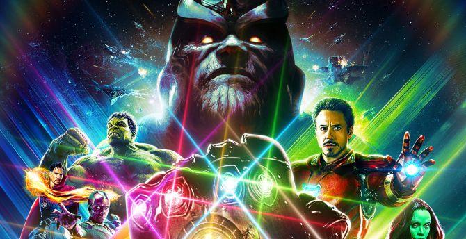 Wallpaper Thanos Avengers Infinity War Artwork Hd: Desktop Wallpaper Avengers: Infinity War, Artwork, 2018