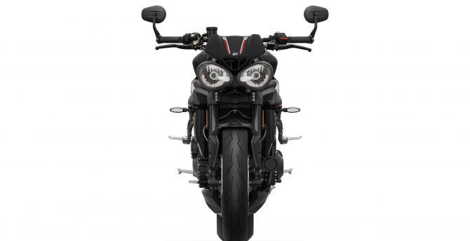2018 Triumph Speed Triple RS, matt jet, black bike wallpaper