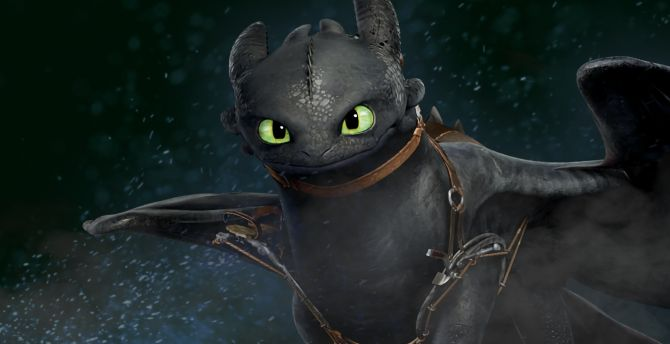 Dragon Toothless How To Train Your 2 Animated Movie Wallpaper