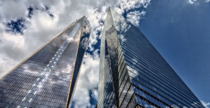 Download 2880x1800 wallpaper buildings, sky, modern, architecture ...