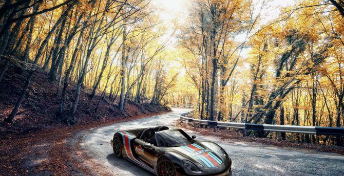 Outdoor, Porsche 918 Spyder, sports car wallpaper