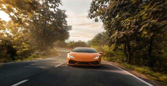 Desktop Wallpaper Lamborghini Huracan Orange 2019 Hd Image