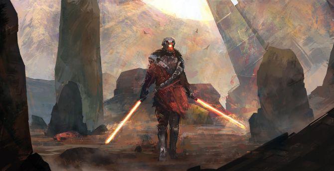 Desktop Wallpaper Sith Star Wars Warrior Artwork Hd Image Picture Background E21034