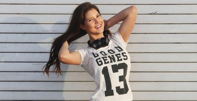 Amanda cerny, brunette, smiling wallpaper