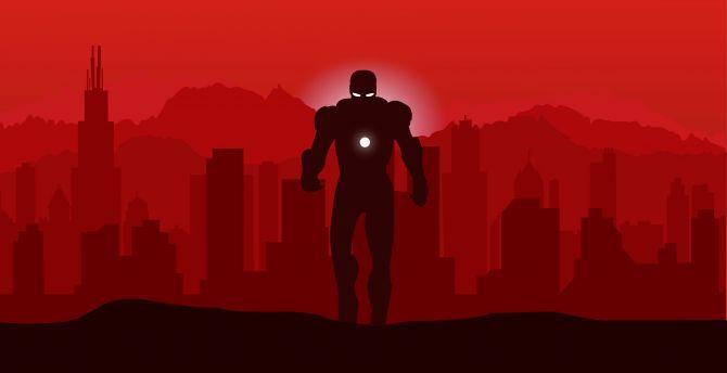 Desktop Wallpaper Marvel Iron Man Minimalist Hd Image Picture Background E3cc6c