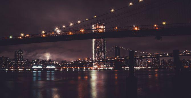 Beautiful Wallpaper Night Brooklyn Bridge - Brooklyn-Bridge-night-city-new-york-5k  You Should Have.jpg