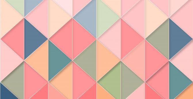 Desktop Wallpaper Triangles Geometric Abstract Pattern