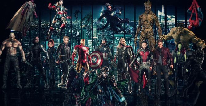 Avengers: Infinity War, 2018 movie, superheroes wallpaper