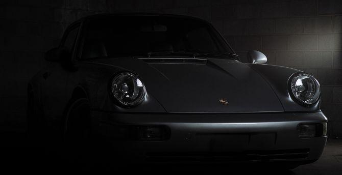 Porsche 911 Carrera, front, dark wallpaper
