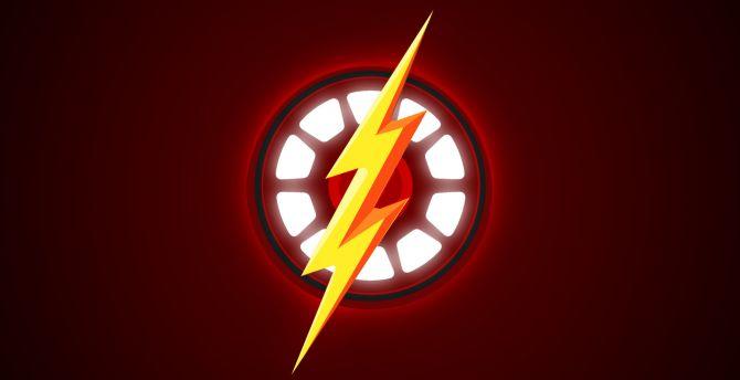 Logo, minimal, iron man, the flash, superhero wallpaper
