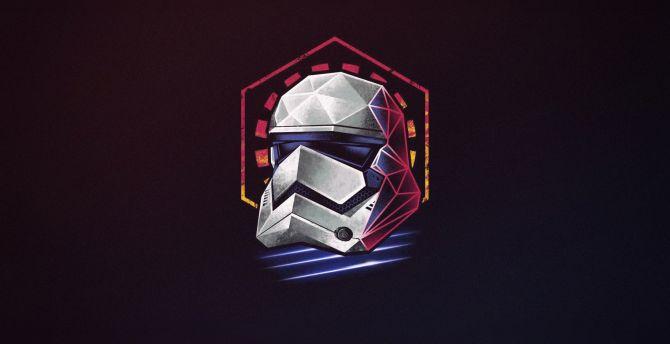 Desktop Wallpaper Minimal Star Wars Stormtrooper Helmet