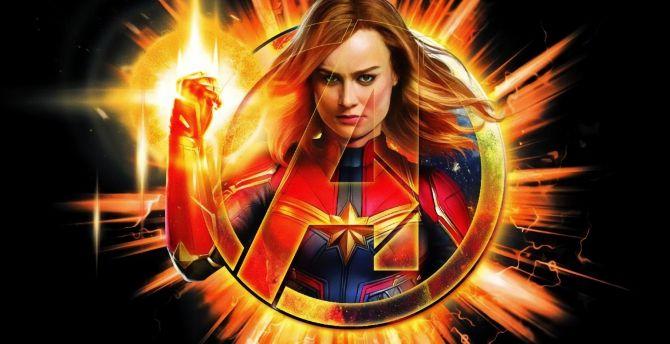 Desktop Wallpaper Avengers Endgame Captain Marvel Artwork