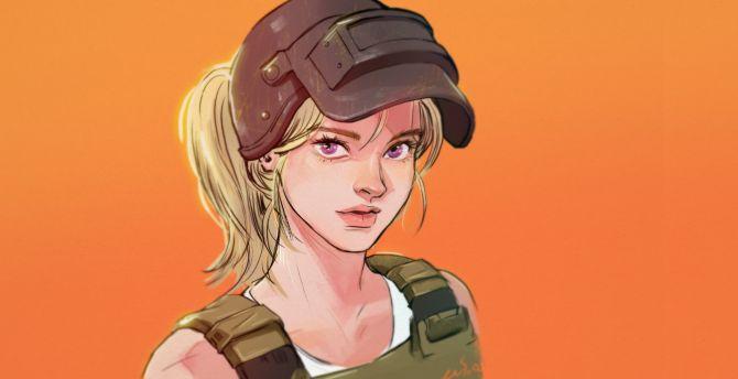 Desktop Wallpaper Pubg Beautiful Girl Artwork Hd Image Picture