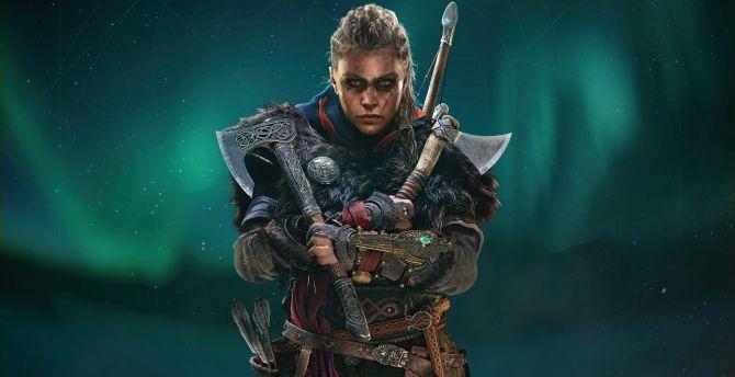 Desktop Wallpaper Assassin S Creed Valhalla Female Eivor With Axe