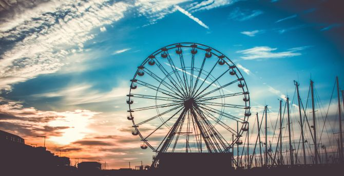 Ferris wheel 4k
