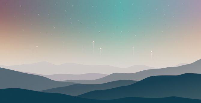 Download 2880x1800 Wallpaper Landscape Minimal Stars