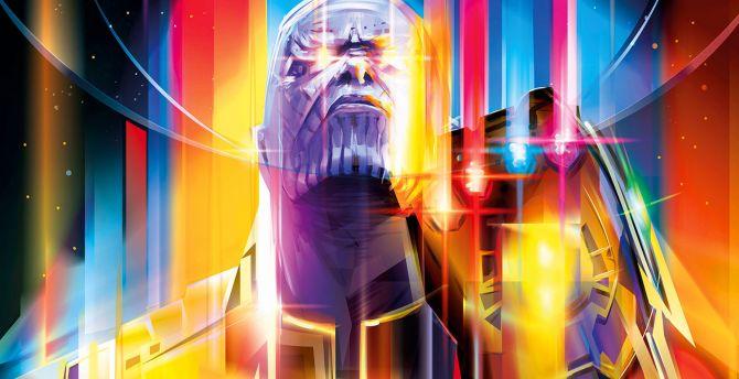 Wallpaper Thanos Avengers Infinity War Artwork Hd: Desktop Wallpaper Thanos, Colorful, Avengers: Infinity War