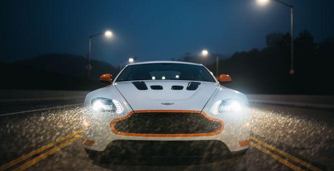 Aston Martin V12 Vantage S, sports car, headlight, 2017 wallpaper