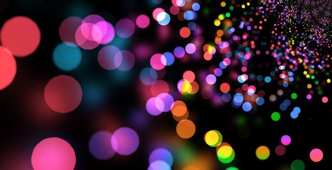 Party Lights Circles Colorful Bokeh Wallpaper