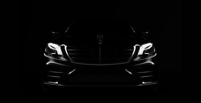 Desktop Wallpaper Portrait Car Mercedes Benz Hd Image