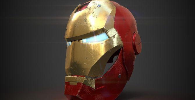 desktop wallpaper art, iron man's helmet, hd image, picture