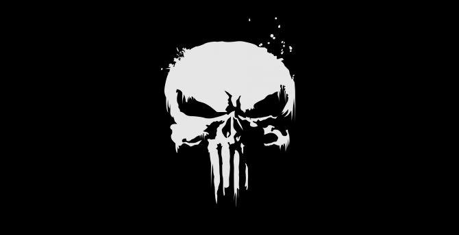 The punisher, logo, skull wallpaper