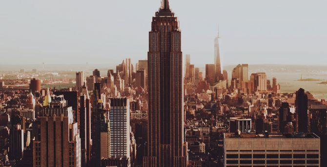 Buildings city new york 4k