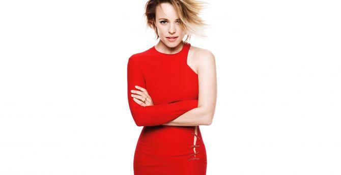 Rachel mcadams red dress