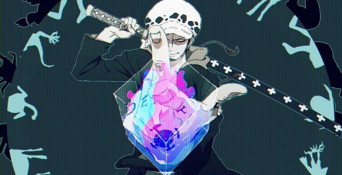 Desktop Wallpaper Artwork Trafalgar Law One Piece Hd