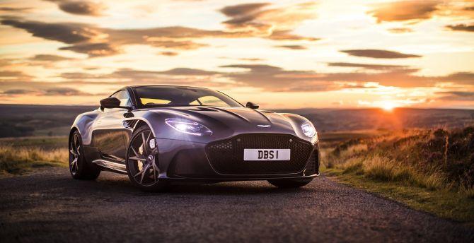 Desktop Wallpaper Front Luxury Car Aston Martin Dbs Superleggera Hd Image Picture Background Fceac6