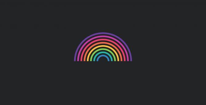 Desktop Wallpaper Minimal Colorful Rainbow Abstract Hd Image