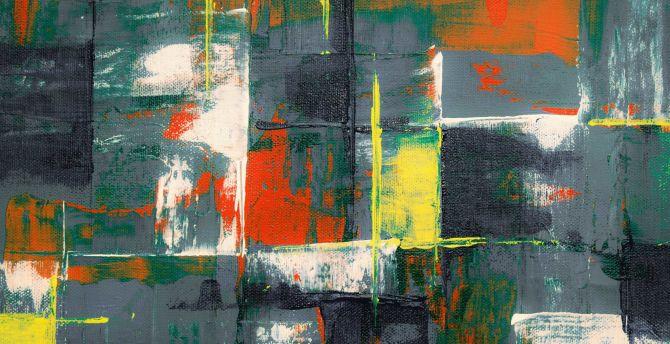 Canvas, art, glitch, gray, yellow and orange, colorful wallpaper