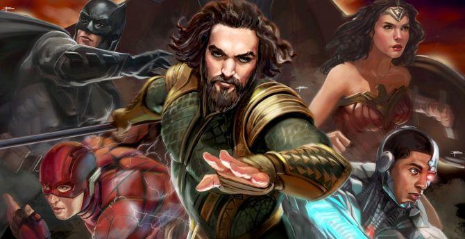 Desktop Wallpaper Justice League Superhero Team Artwork