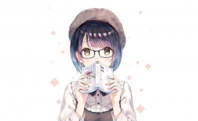 Anime girl short hair book