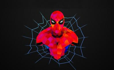 Spider-man, abstract, minimal