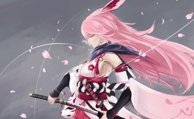 Artwork anime girl honkai impact video game