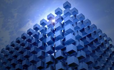 Digital art, cubes