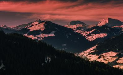 Dawn horizon mountains austria