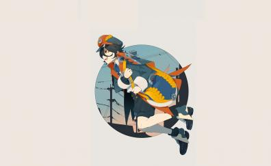 Mood happy anime girl original