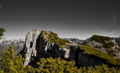 Landscape, mountains, green, landscape, nature