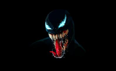 Venom, artwork, minimal, dark