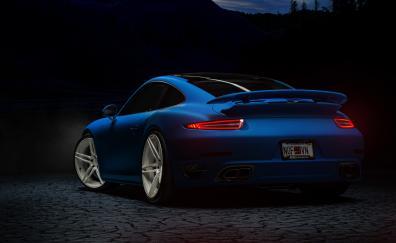 Sports car porsche 911 turbo