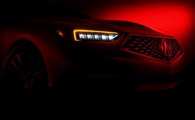 Acura car headlight